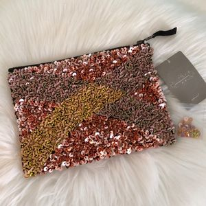 NEW w/Tags ANTHROPOLOGIE Beaded Sequin Clutch Bag